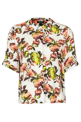 Crinkle Floral Shirt - Summer Seekers - Clothing - Topshop