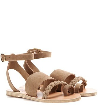 sandals suede green shoes