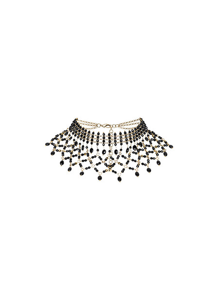 Rosantica women beaded necklace choker necklace black jewels