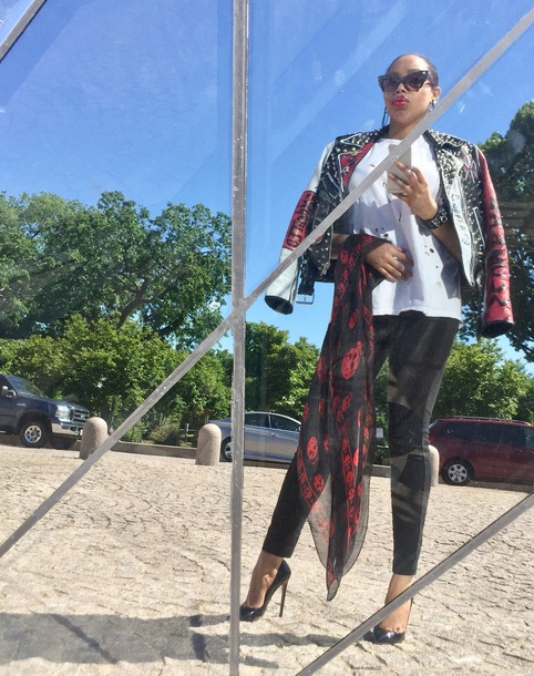 scarf punk red bottoms chic lookbook stylish style fashion luxury hipster  punk gucci vintage adc2edccf