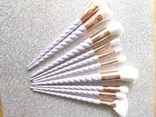 make-up,unicorn,cute,chrome,love,pink,unicorn brushes,make up brushes,amrezy