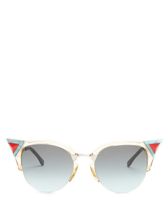 metal embellished sunglasses green