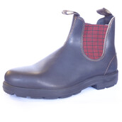 shoes,blundstone boots,chelsea boots,dealer boots,elasticated sides,mens boots,uk size11,us size 12,plaid,tartan,check print,mens slip ons