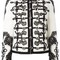Dolce & gabbana floral embroidered military jacket, women's, size: 38, white, silk/cotton/nylon/virgin wool