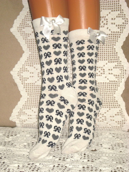 knit dress button socks gray socks gift holiday holidays dark gray socks women black socks ivory socks lace socks ivory tall socks black long socks black valentines day gift for her hand knit socks