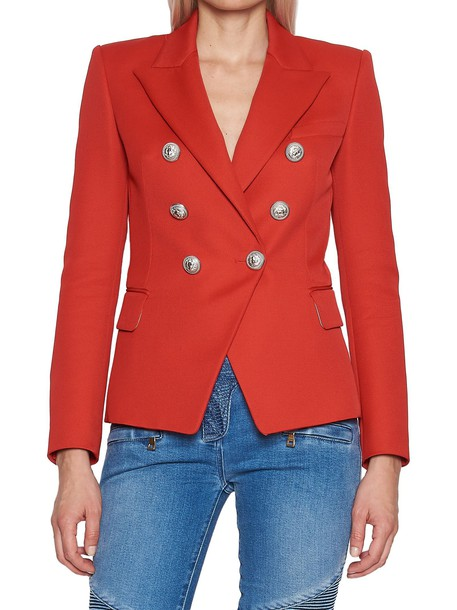 Balmain jacket red
