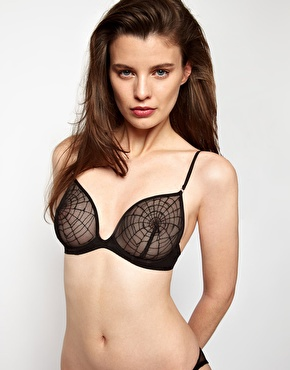 Kallisti by marios schwab for asos inc spider web embroidered underwired bra at asos