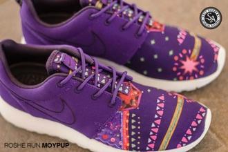 shoes nike roshe run nike purple women