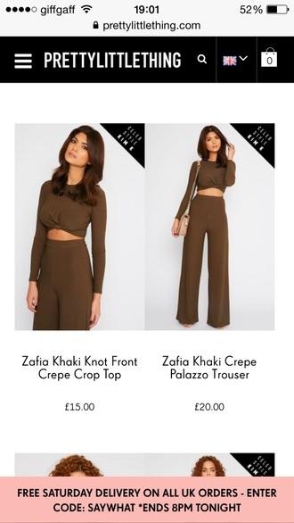 top green army crop tops kim kardashian pants