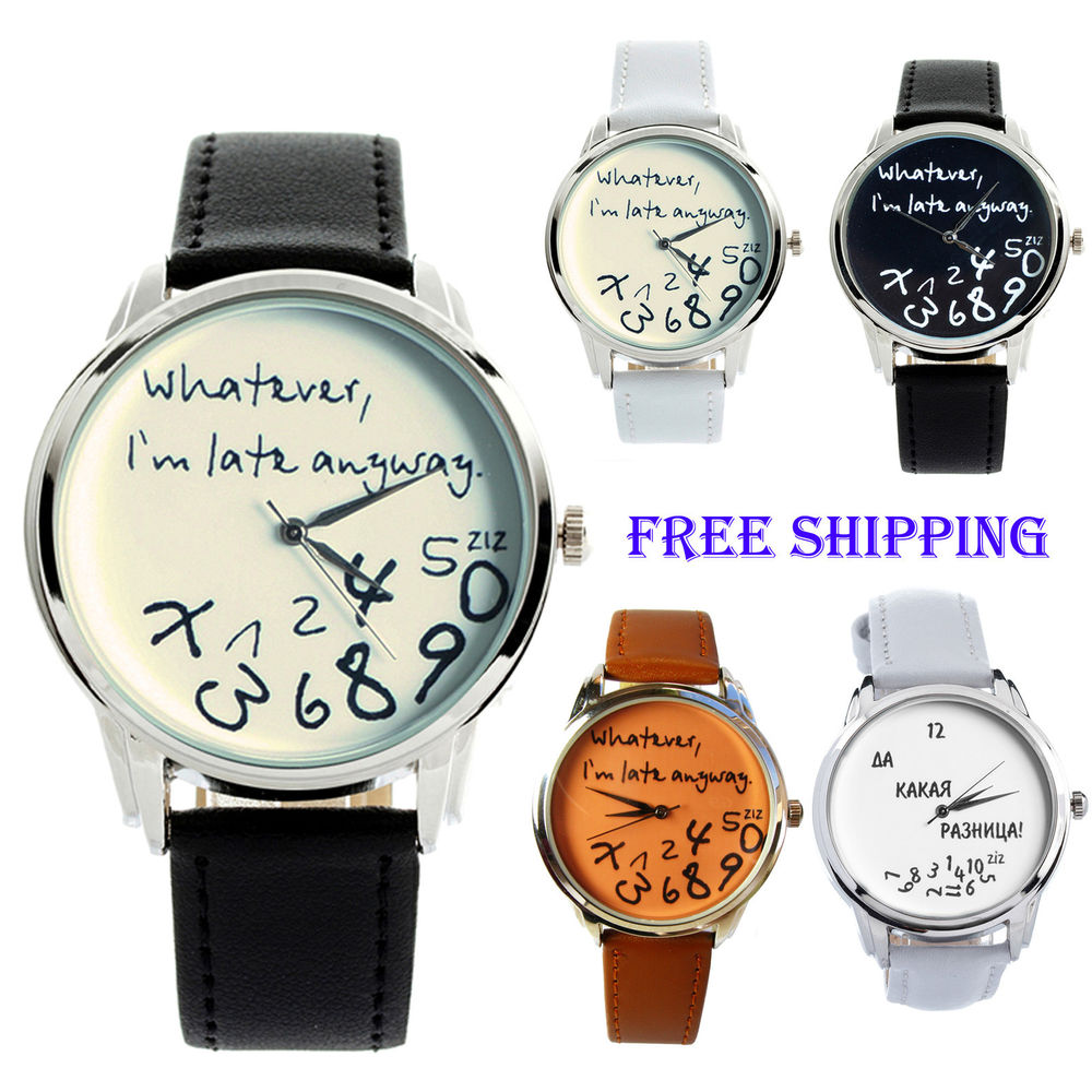 Whatever, i'm late anyway, designer watches, japan movement, leather strap
