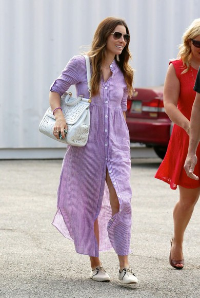 jessica biel dress shoes shirt dress bag
