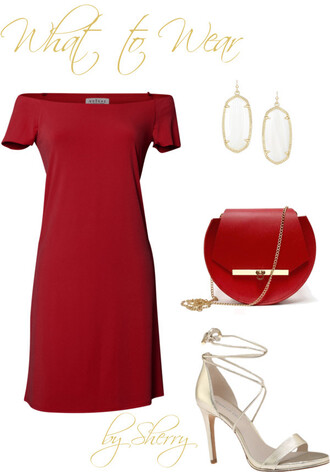thelifeoftheparty blogger shoes dress bag jewels red bag off the shoulder dress red dress new year's eve party outfits sandals high heel sandals