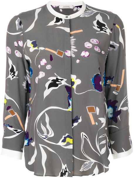 Dorothee Schumacher shirt printed shirt women silk grey top