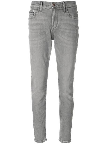 Calvin Klein Jeans jeans women spandex fit cotton grey