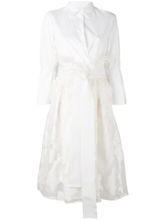 dress shirt dress women spandex lace floral white cotton