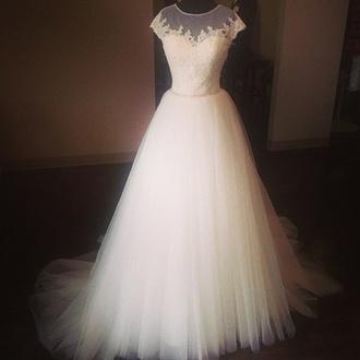 dress prom dress prom princess vintage lovely dress white dress dentelle
