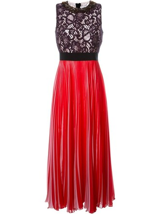 dress pleated dress pleated lace red