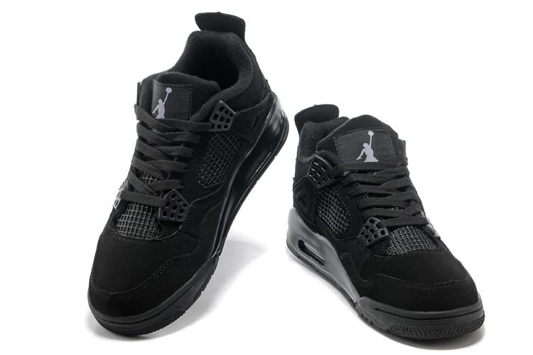 air jordan 4 all black