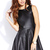 Sleek Faux Leather Skater Dress | FOREVER 21 - 2000111979