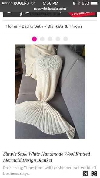 home accessory white blanket knitted