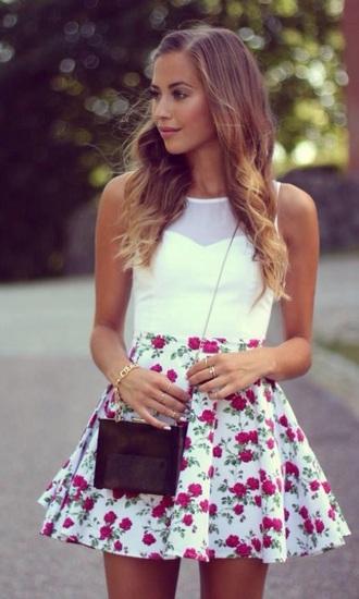 skirt skater skirt floral