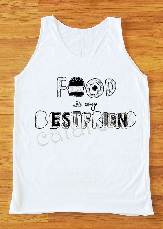 Food Is My BestFriend T-Shirt Hamburger Shirt Women Tank Top Women Shirt Unisex Shirt Vest Women Top Sleeveless Women Singlet Shirt S,M,L on Wanelo