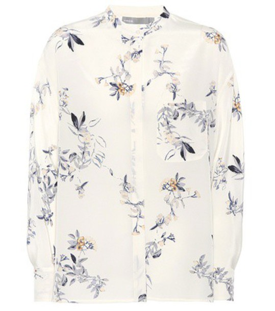Vince shirt silk white top
