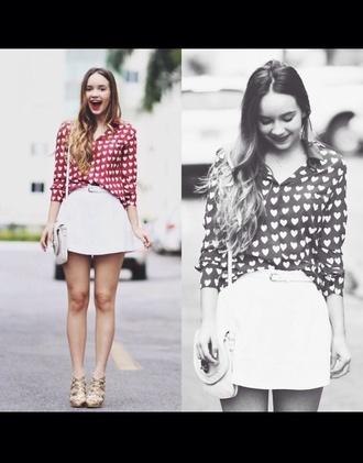 blouse heart top