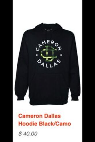 sweater jacket cameron dallas hoodie black plain cute