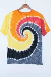 t-shirt,just vu,tie dye,clothes,menswear,mens t-shirt,colorful,hipster,festival,coachella,bustier