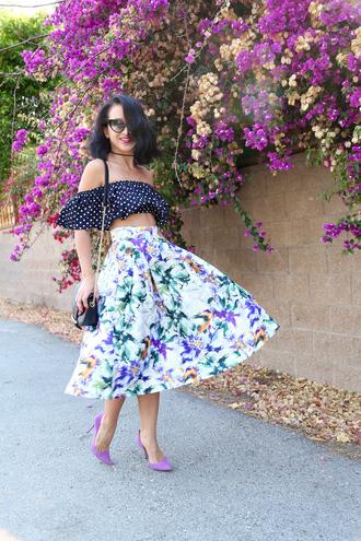 ktr style blogger top skirt bag shoes