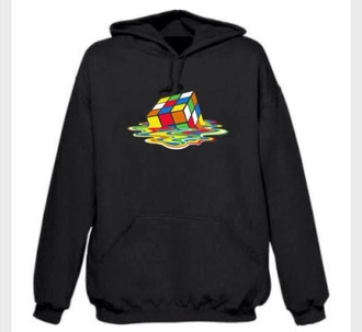 jacket melting rubix cube rubix cube hoodie sweatshirt big bang theory sweater