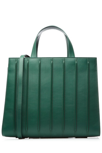 leather green bag