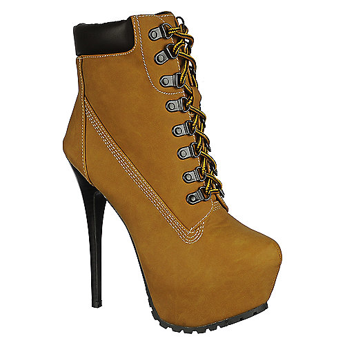 Buy Breckelle's Blazer-11 Ankle Platform high heel booties
