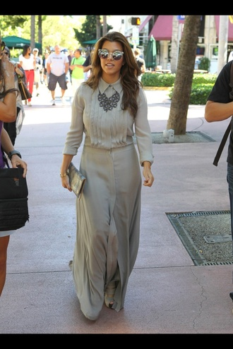 sunglasses kourtney kardashian beautiful dress grey keeping up with the kardashians shoes