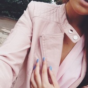 jacket,pink,leather,leather jacket,pink jacket,faux leather,tumblr jacket,tumblr fashion,blogger,blogger fashion,high quality,girl,girly,outerwear