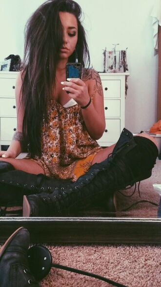 shoes boots lace up knee high boots knee high socks flats black boots