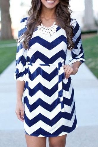 dress zaful chevron chevron dresses blue chevron dress