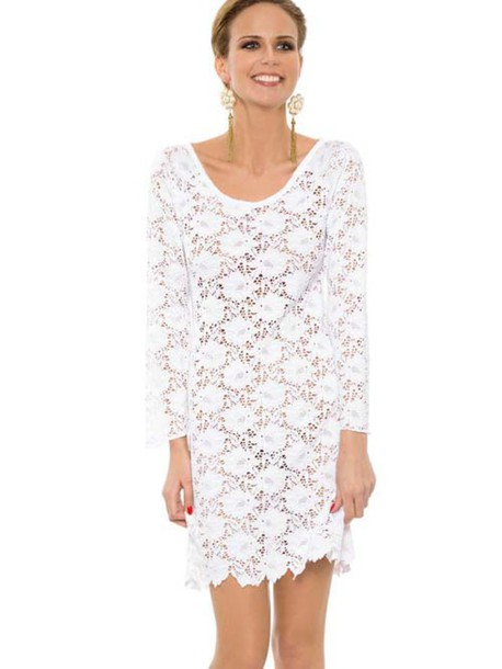 dress rebecca2015 summer dress clothes bikini beach cover up white dress