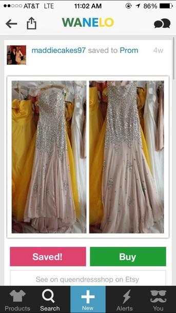 dress blush pink prom dress
