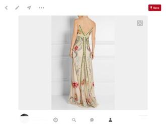 dress vintage dress embroidered