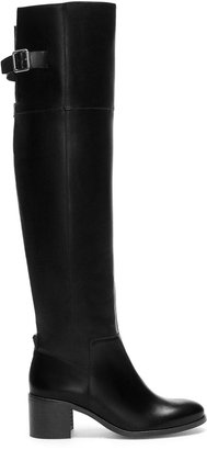Zara High Heel High-Cut Leather Boot - ShopStyle