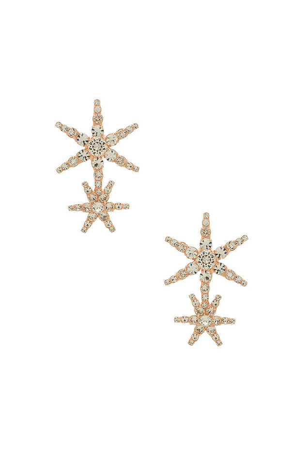 Jennifer Behr Estrella Earrings in metallic / copper