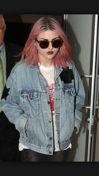 jacket francis bean cobain grunge jeans