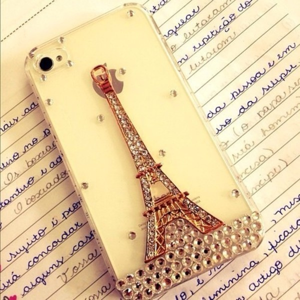 jewels iphone cover eiffel tower paris
