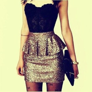 dress loveit sequin need it fashion classy black gold shiny girly sexy