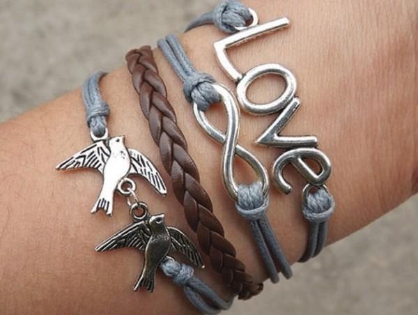 jewels love infinity birds fashion bracelets gorgeous