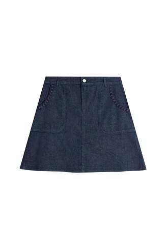 skirt jean skirt embroidered crochet blue