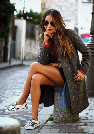 sincerely jules coat jacket t-shirt skirt shoes sunglasses