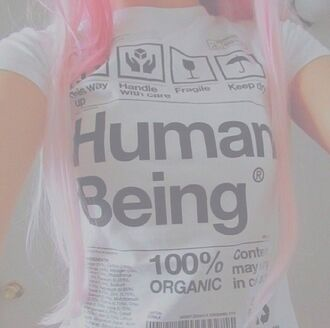 shirt pale pale grunge graphic tee cute tumblr tumblr girl instagram fashion science white t-shirt t-shirt human being human light pink words on shirt pink shirt white shirt tumblr shirt grunge white pink cool pastel tumblr outfit earth grunge t-shirt soft grunge letter t-shirts pastel goth text tee black and white t shirt print